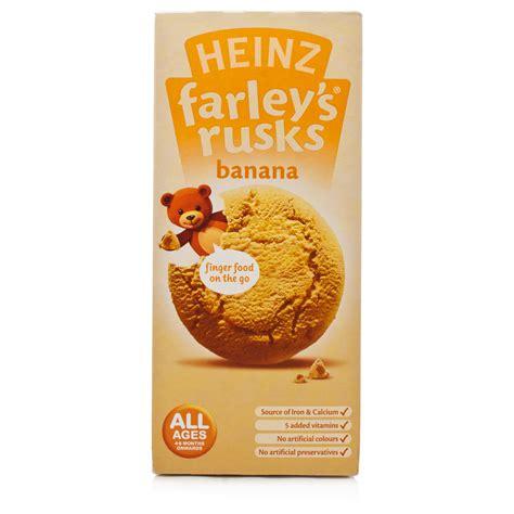 Farleys Rusks Banana farley s rusks reduced sugar banana flavour 9 pack chemist direct