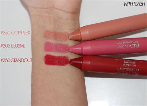 revlon matte lipstick swatches revlon colorburst matte balms review swatches photos