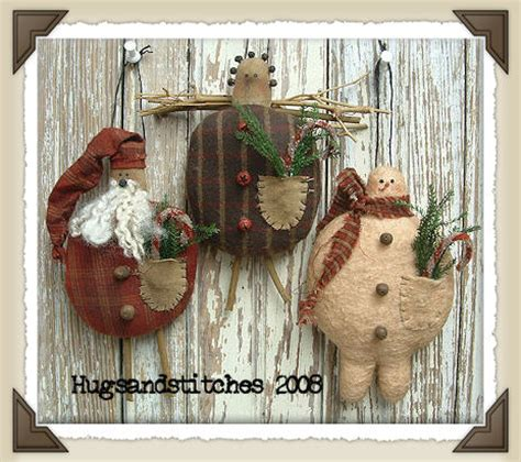country and primitive christmas ornaments at