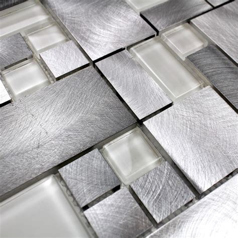 aluminum kitchen backsplash aluminium mosaic wall backsplash kitchen and bathroom