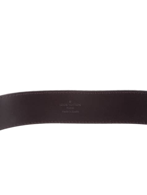 Jual Belt Lv Intiales Suede Belt Black Mirror Quality 3 louis vuitton suede damier lv initiales 40mm belt accessories lou117395 the realreal