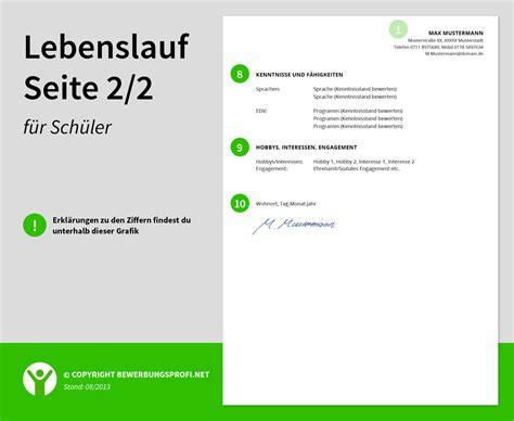 Lebenslauf Ausbildung Berufsschule Angeben Lebenslauf Muster Sch 252 Ler Ausbildung Praktikum Bewerbungsprofi Net