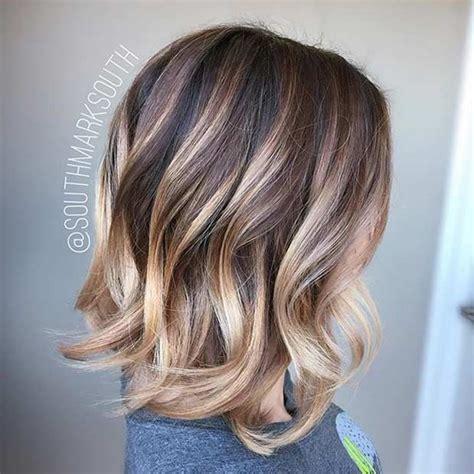 medium length layered balayage ombre 31 best shoulder length bob hairstyles shoulder length