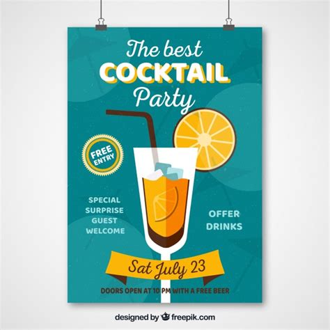 vintage cocktail party poster vintage cocktail party poster vector free download