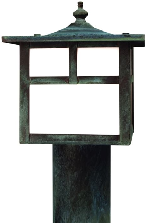 mission style l post lights california mission post light outdoor rustic copper lantern