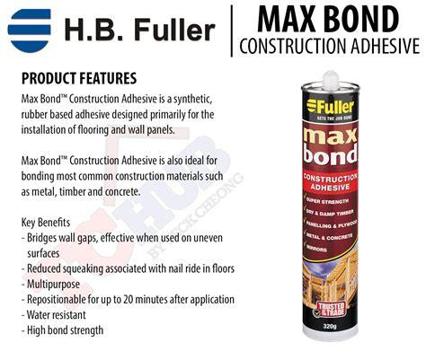 H B Fuller Maxbond Construction Adhesive 320g Power