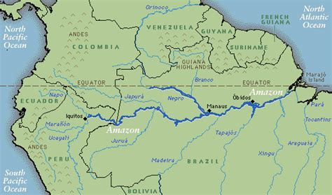 amazon river where is the amazon river map