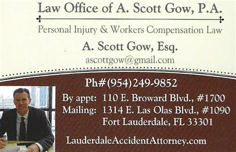 Personal Injury Lawyer Ft Lauderdale by Attorney Gow Ft Lauderdale Personal Injury