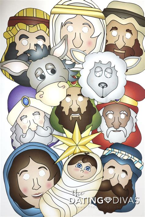 free printable nativity animal masks printable nativity masks the dating divas