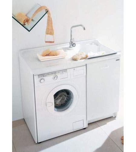 lavella per lavanderia lavatoio lavella con porta lavatrice h 89 60 x 109