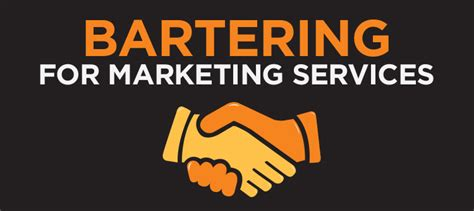 Bartering For Stuff Or Services by Bartering With A Service Marketing Firm Rains