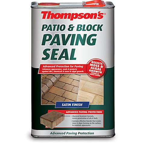 Thompsons One Coat Patio Sealer by Thompsons Clear One Coat Patio And Block Paving Seal 5l