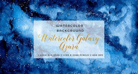 navy blue watercolor galaxy clipart starry night sky