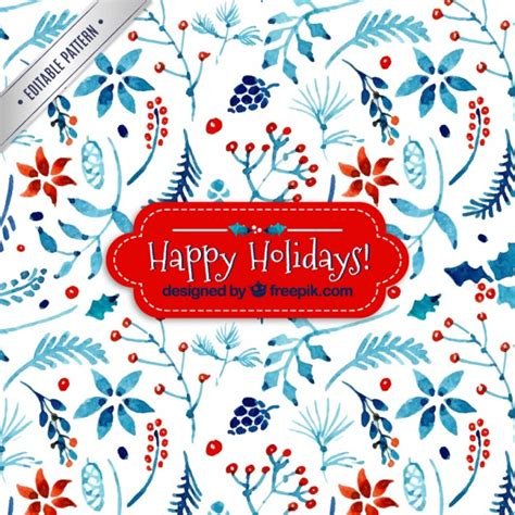 christmas patterns early years watercolor floral christmas pattern vector free download