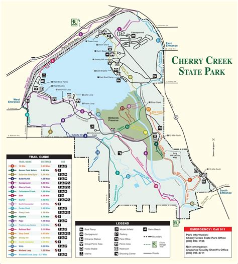 creek state park trail map cherry creek state park outthere colorado