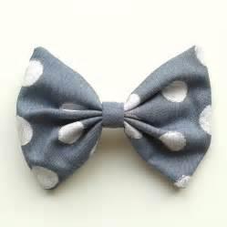 hair bows hair bow denim polka dots su wen