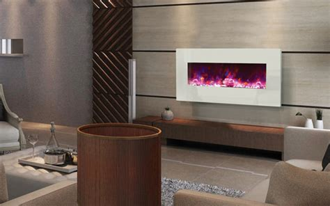 Amantii   WM BI 34 4423 WHTGLS Electric Fireplace