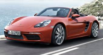 Or Porsche Porsche 718 Boxster Revealed With New Turbo D 4 Cylinder