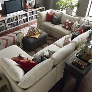 custom upholstered u shaped sectional