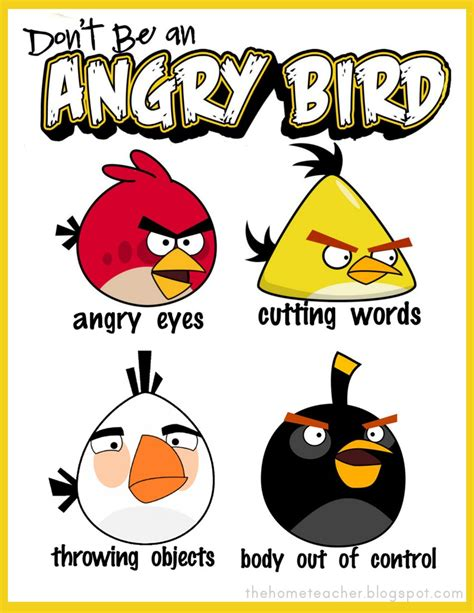 angry birds anger management worksheets thehometeacher angry birds