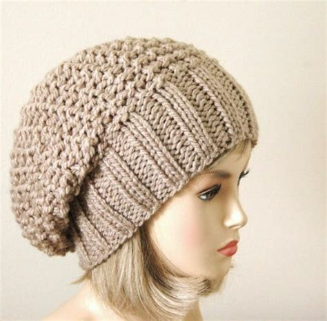 knitting patterns for slouchy hats free slouchy beanie hat chunky knit reversible neutral