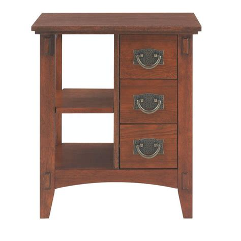 home decorators table home decorators collection medium oak storage end table
