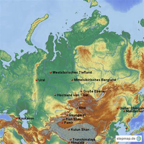 Asiat Gebirge asen gebirge maraike landkarte f 252 r asien