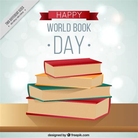 libro world menace day libros de la pila en fondo del d 237 a mundial del libro descargar vectores gratis