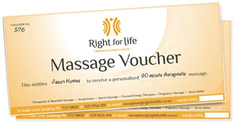 buy massage vouchers right for life massage and