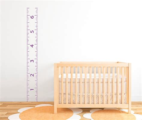 growth chart wall sticker ruler growth chart vinyl wall decal 9 db156 by