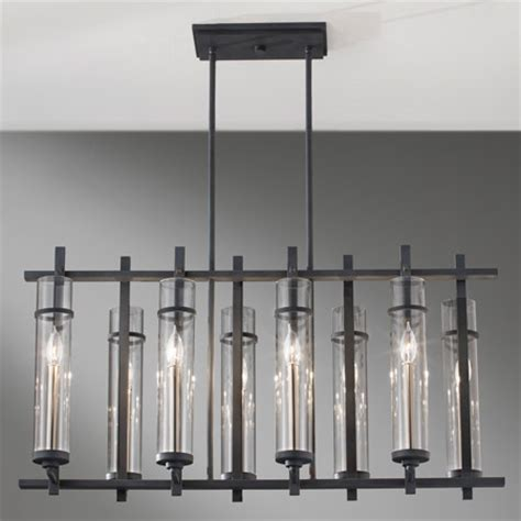 Murray Feiss F2630/8AF/BS Ethan Eight Light Linear Chandelier