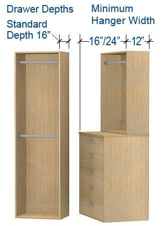 Walk In Closet Shelf Depth by Closet Sizing Custom Garage Cabinets
