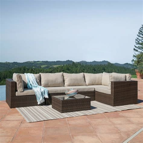 Sofa Outdoor Furniture by Outdoor Patio 6pc Sectional Furniture Pe Wicker Rattan
