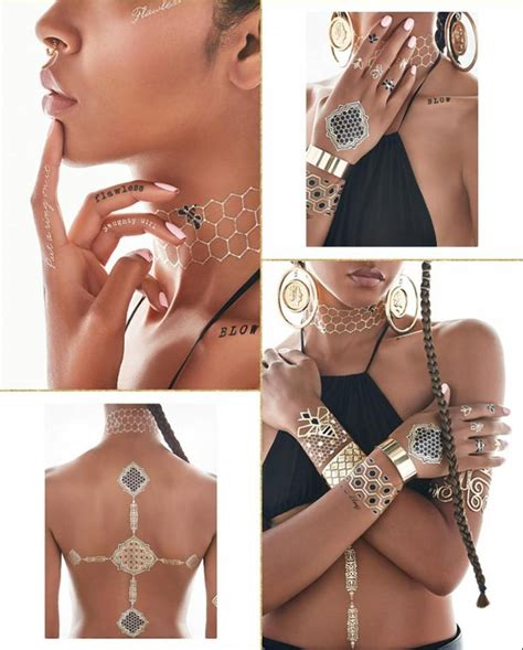 hot new trend alert rock gilded temporary tattoos like beyonce launches sexy temporary tattoo line ny daily news