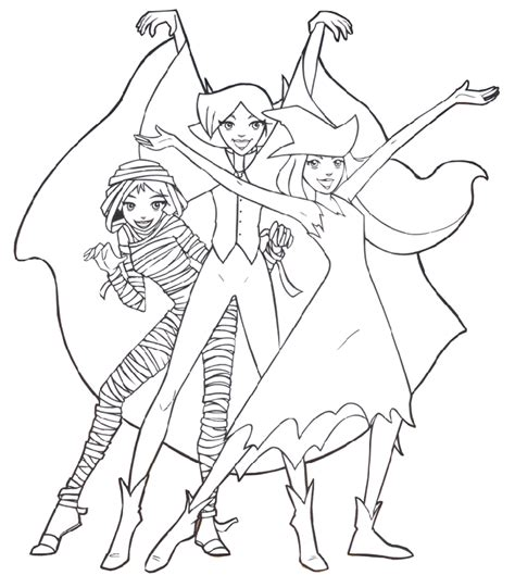 Totally Spies Coloring Pages totally spies coloring pages coloringpages1001