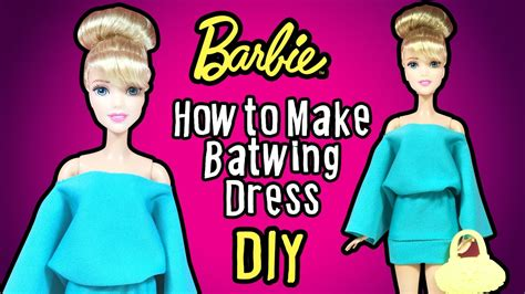 How To Make A Doll Dress Out Of Paper - diy doll batwing sleeve dress tutorial how to