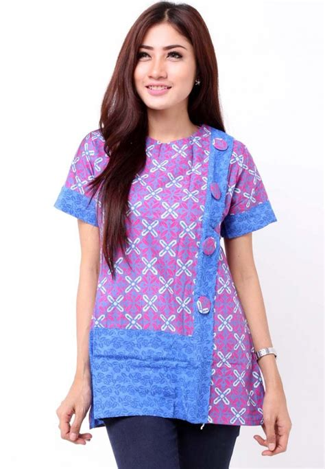 Batik Dress Jumbo Big Size model gamis batik kombinasi design bild