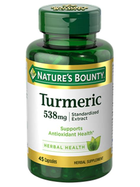 turmeric 538 mg (45 capsules)   nature's bounty be