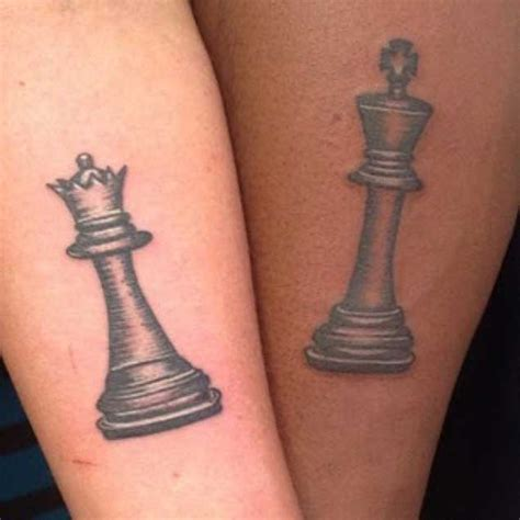 tattoo queen chess piece 40 king queen tattoos that will instantly make your