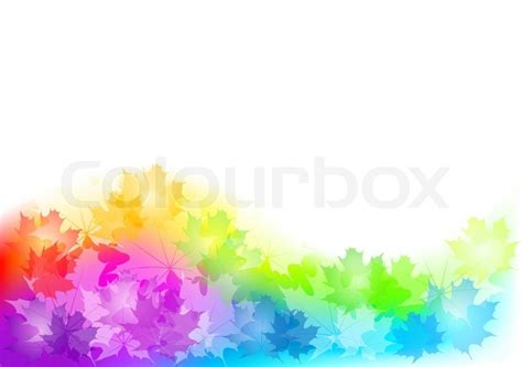 Creative Home Decoration by Full Color Background Of Autumn Stock Vector Colourbox