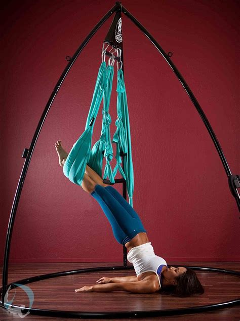 yoga swing stand back neck care yoga swings trapeze stands since 2001