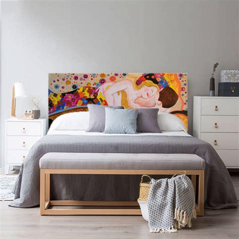 cabecero cama pintado  mano cuadro lovers personalizalo