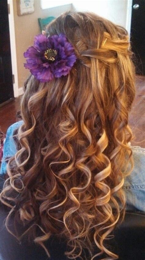 waterfall braid  curls hair braids  curls