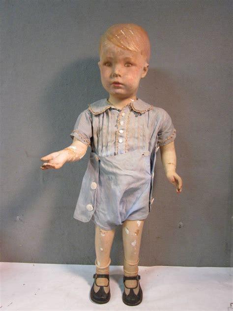 antique mannequin child antique 1930 s life size little boy child clothing store