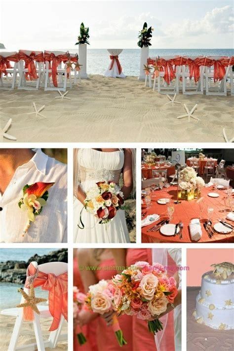 Coral beach wedding   Coral Peach Wedding Ideas