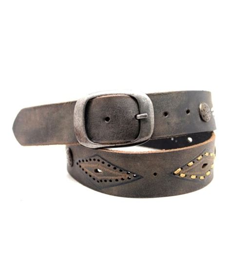 vintage gray leather belt buy at low