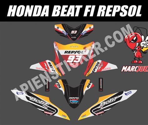 Sticker Striping Motor Honda Beat Fi Esp striping motor beat fi repsol marc marquez apien sticker