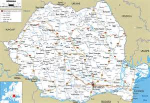 map of with all cities maps of romania detailed map of romania in