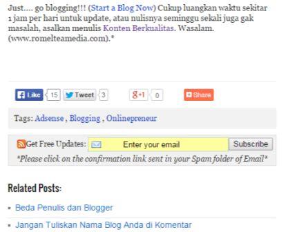 membuat rss blog cara membuat kotak rss subscribe di bawah postingan blog