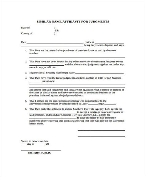 affidavit forms in pdf